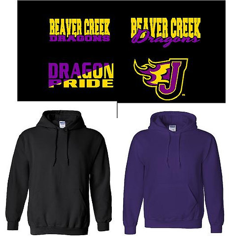 Adult Black or Purple Hoodie  (BCE)