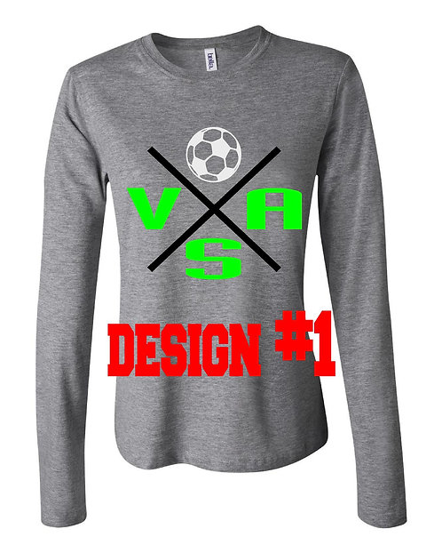 Ladies fit long sleeve w/2design choices