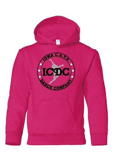 ICDC Logo Hoodie in Black or Pink