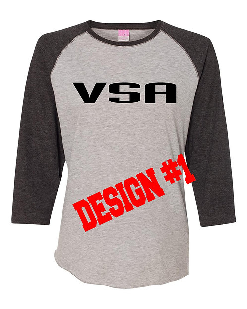 Ladies Baseball tee 2 design choices