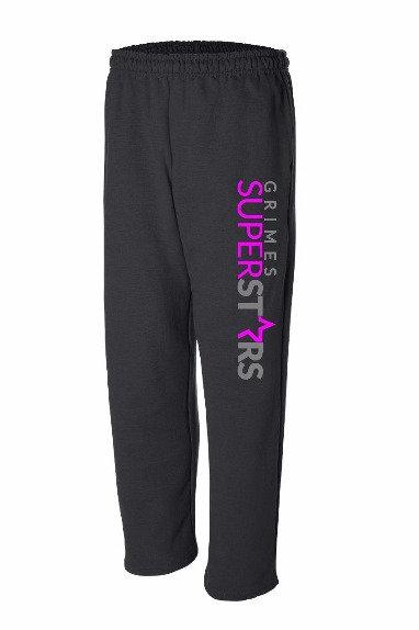 GS open bottom sweatpants