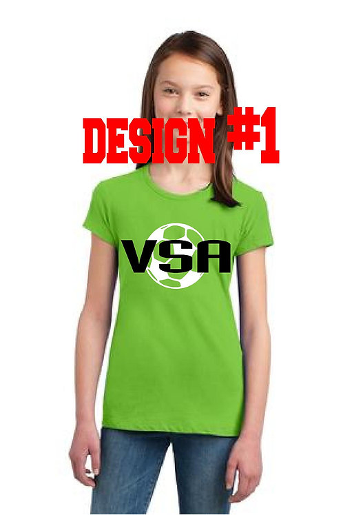 Girls fit tshirt with choice of 2 designs (VSA)