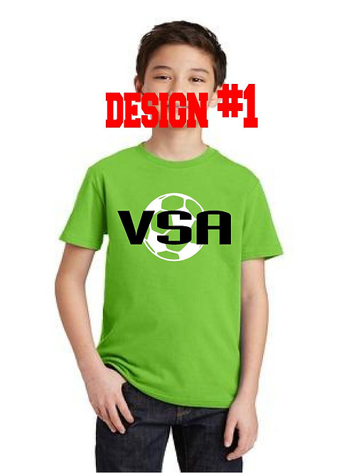 Youth tshirt with choice of 2 designs (VSA)