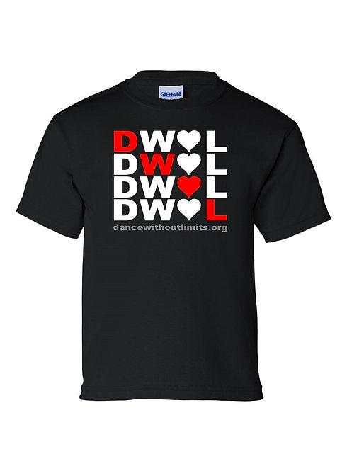 DWOL Diagonal design Tshirt Youth and Adult