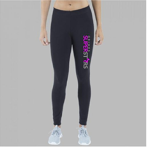 GS Black Cotton/spandex leggings