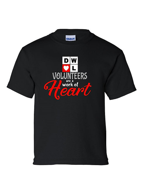 DWOL Volunteer Tshirt Youth and Adult