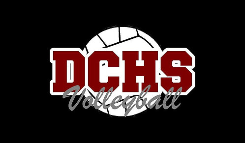 DCHS Volleyball Car Decal