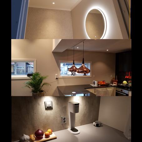 Do prosjekter, mindre installasjonsarbeid på badet og kjøkkenet som heilt nye eller rehabilitert anlegg.