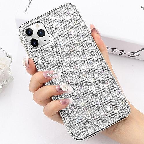Hard PC Glitter Rhinestone Case for iPhone 8 11 12 Pro Max X Xr Xs Crystal Case
