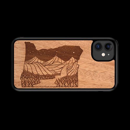 Wooden Phone Case | Outdoor Adventure - Oregon State Night Landscape