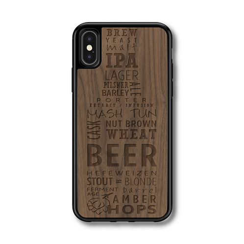 Slim Wooden Phone Case | Microbrew Craft Beer Black Walnut