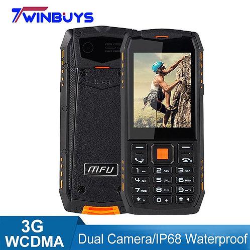 "3G WCDMA Mobile IP68 Water&Dustproof2.8"" 2700mAh Dual Camera & SIM Cards Phone"