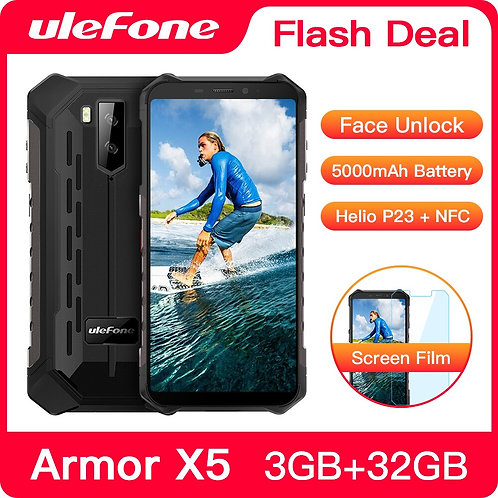 Ulefone ArmorX5 Rugged Android 10 Octa-Core IP68 3GB 32GB 5000mAh 4G LTE Phone