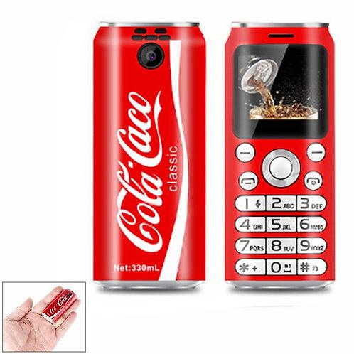 "Mini Mobile Phone Cute Pocket K8 1.0"" Cola Shape MP3 Bluetooth Dialer DualSiM"