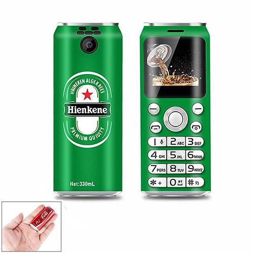 Cute Pocket Mini Mobile Phone K8 X8 1.0inch Cola Shape Dialer Small Cellphone