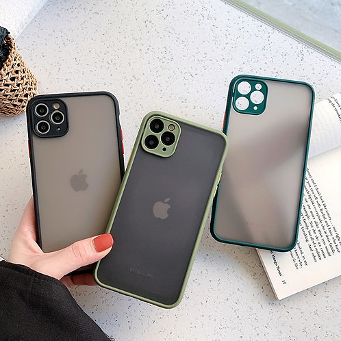 Cases for iPhone 11 12 11Pro Max XR XS Max X 8 7 6S Plus Matte Shockproof Cover