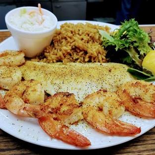 Shrimp & Choice of 1 Fish
