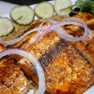 Grilled Pink Salmon