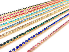 Coloured Crystal Chain SS6.5