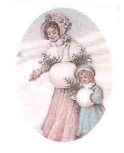Lady & Child in the snow