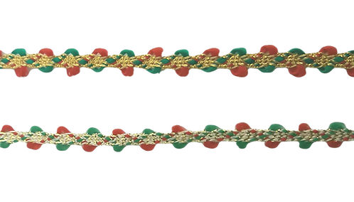 Red/Gold/Green Braid BR420