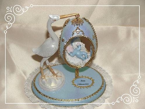 Baby Blue Stork Egg Gift