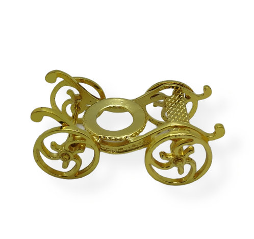 Gold plated brass carriage