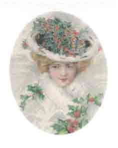 Silk Print Lady Christmas