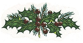 Large Holly Decals