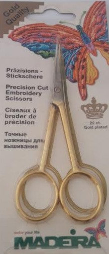 Embroidery Scissors 22 ct. Gold Plated