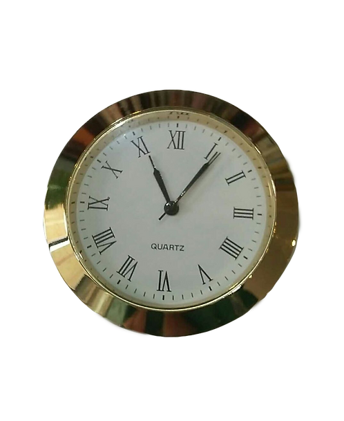 50mm Gold Finish Clock Insert