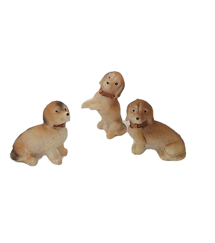 Set of 3 Tiny Dogs