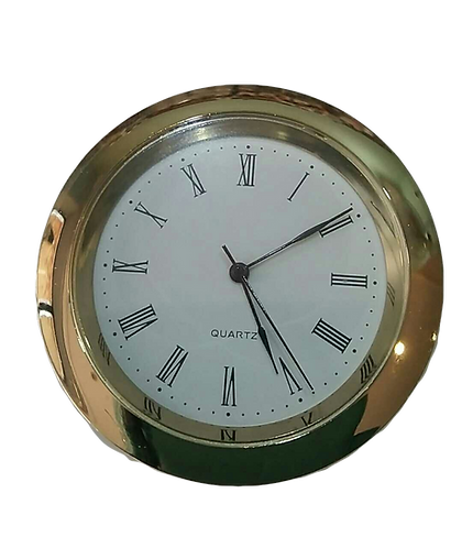 45mm Gold Finish Clock Insert