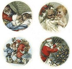 Santa and children Decals