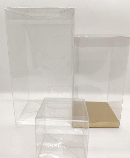 Clear plastic foldable display box
