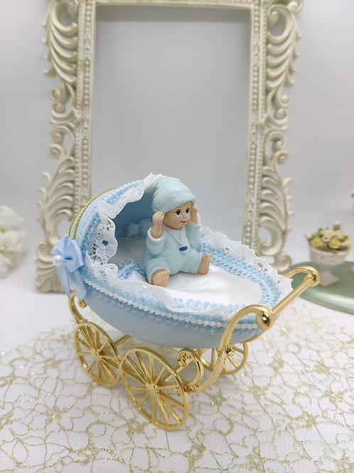 Pram in Baby Blue