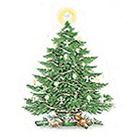 Christmas Tree Decals 282-838