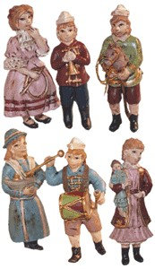 Set of 6 Victorian children in various poses