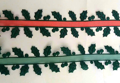 Holly Leaves Ribbon