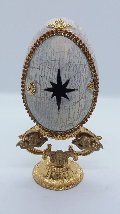 Holy family in a Goose Egg with star in door