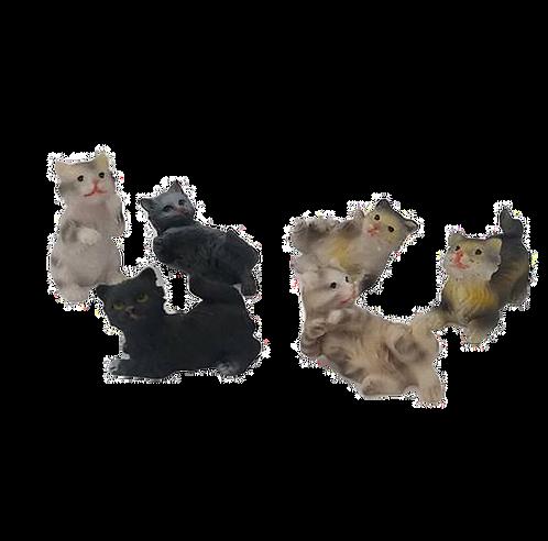 Set of 6 Tiny Cats