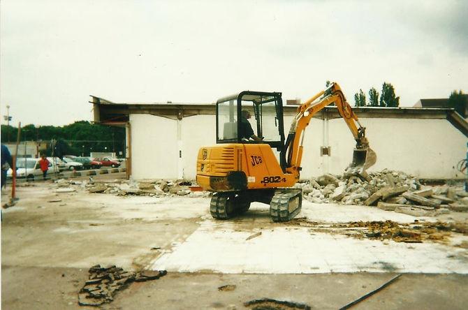 Centre commercial du Bois des Roches la destruction