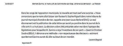 L'opposition à Bernard Zunino pour Grand Bois