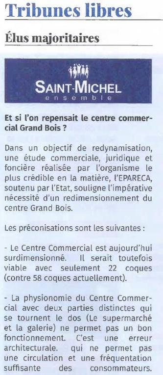 Saint Michel ma Ville la majorité et le centre commercial Grand Bois