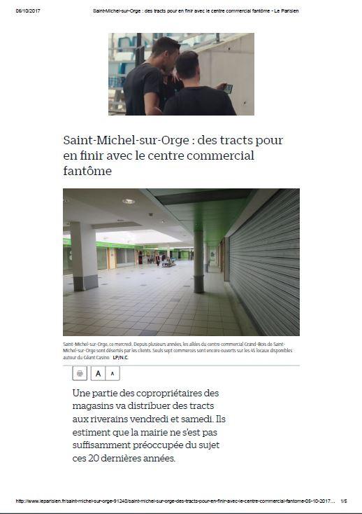 """Article dans """"Le Parisien"""""""