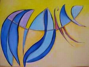 Acrylique sur toile Septembre 2004  24 X 48 pouces 950$  61 x 122cm 600€
