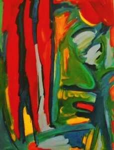 Acrylique sur toile Novembre 2001  36 X 46 pouces 1250$  91 x 117cm 800€