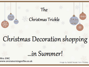 Christmas Decoration shopping...in Summer!