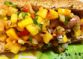 Summer Salsa Hot Dog
