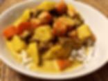 Vegetable Steaks Curry